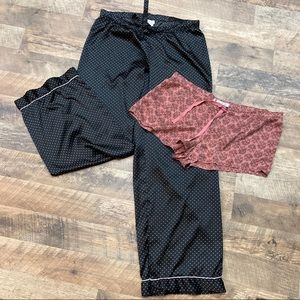 Victoria Secret Silk Sleep shorts & sleep pants